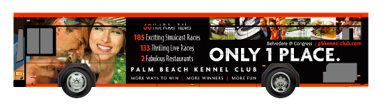Palm Beach Kennel Club Bus Wrap